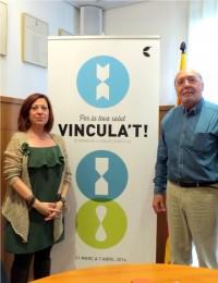 Il·lma. Montserrat Candini i Dr. Guillem Homet durant la presentació del programa: Per la teva salut, VINCULA'T